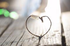 Amour, mariage, idée de jour de valentines - inscription et coeur Image libre de droits