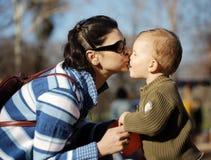 Amour maternel Image libre de droits