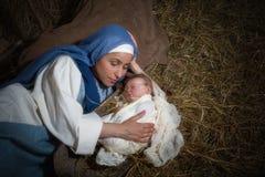 Amour maternel de Noël Photographie stock