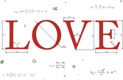 Amour mathématique Photos libres de droits