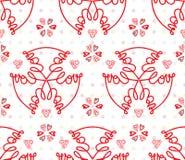 Amour moderne de mot de calligraphie dans la répétition sans couture de style floral Photographie stock libre de droits