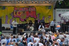 Amour musical extérieur de concert dedans Photos libres de droits