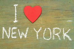 Amour New York des textes i Images libres de droits