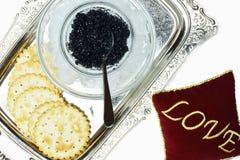 Amour noir de caviar Image stock