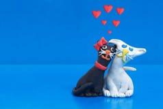 Amour noir et blanc Photo stock
