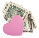 Amour ou argent Images libres de droits