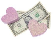 Amour ou argent Photos stock