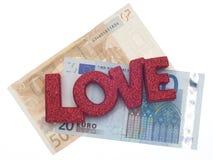Amour ou argent Image stock
