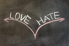 Amour ou haine photo libre de droits