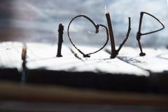 AMOUR ou idée heureuse de jour de valentines Photo stock