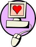 Amour par l'Internet Photographie stock