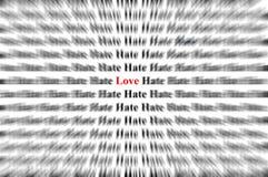 Amour parmi la haine Photographie stock