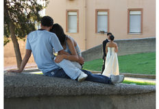 Amour : passé et contrat à terme Photos libres de droits
