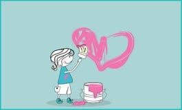 Amour peint Photos libres de droits