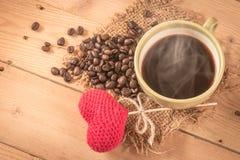 Amour pour boire du café Photos stock