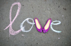 Amour pour des chaussures Images libres de droits