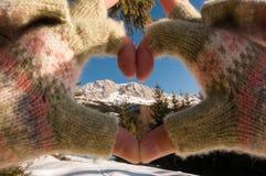 Amour pour des montagnes Images stock
