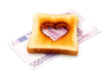 Amour pour l'argent Photos libres de droits