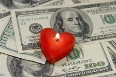 Amour pour l'argent Photo libre de droits