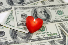 Amour pour l'argent Images libres de droits