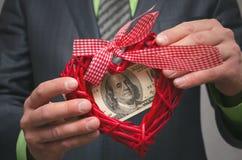 Amour pour l'argent Homme avide Photos libres de droits