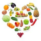 Amour pour la nourriture saine Photographie stock libre de droits