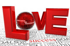 Amour pour la réussite Images libres de droits
