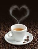 Amour pour le café Photographie stock libre de droits