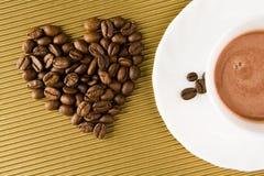 Amour pour le café Images libres de droits