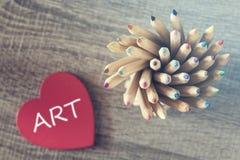 Amour pour le concept d'art Photo stock