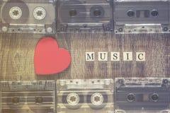 Amour pour le concept de musique Images stock