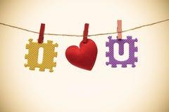 Amour pour le jour du ` s de Valentine Image libre de droits