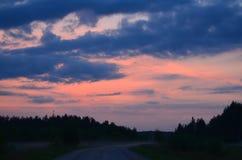 Amour pour les couchers du soleil Images stock