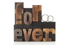 Amour pour toujours Photos libres de droits
