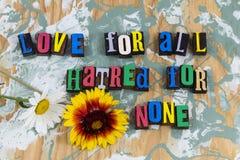 Amour pour toute la haine aucun images libres de droits