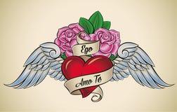 Amour-propre Amo Te (je t'aime) illustration stock