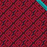Amour-rétro pattern-01 Image libre de droits