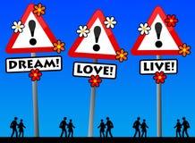 Amour rêveur vivant illustration stock
