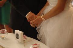 Amour romantique 15 de symboles de mariage de couples de mariage Photo stock