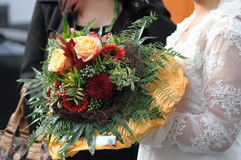 Amour romantique 36 de symboles de mariage de couples de mariage Photos libres de droits