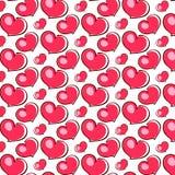 Amour rose de coeurs Image libre de droits
