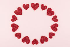 Amour rose rond Photographie stock libre de droits