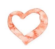Amour rouge de coeur Image libre de droits
