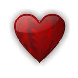 Amour rouge de coeur Photo stock