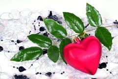 Amour rouge de coeur de Noël Images libres de droits
