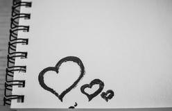 Amour rouge de coeur Peintures de pétrole d'art (acryl) Le jour de Valentine Images stock