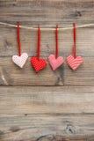 Amour rouge de décoration de jour de valentines de coeurs romantique Photographie stock