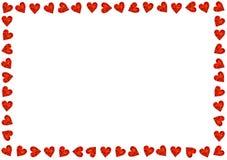 Amour rouge de jour de Valentines de carte de coeurs Photos libres de droits