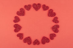 Amour rouge rond Photos stock