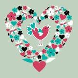 Amour social mignon d'oiseau Image stock